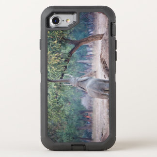 Elephant reaching for Acacia tree OtterBox Defender iPhone 7 Case