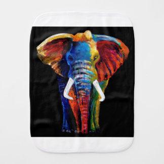 ELEPHANT RETRO STYLE BABY BURP CLOTH