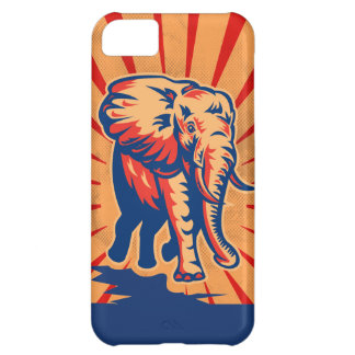 Elephant Retro Style iPhone 5C Case