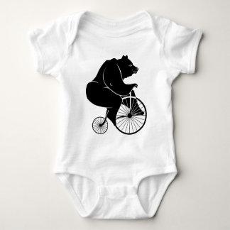 Elephant Riding a Bike Baby Bodysuit