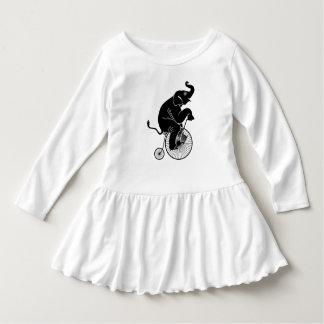 Elephant Riding a Bike Dress