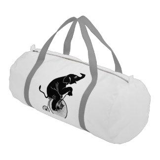 Elephant Riding a Bike Gym Bag