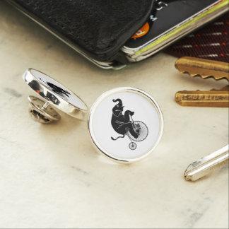 Elephant Riding a Bike Lapel Pin