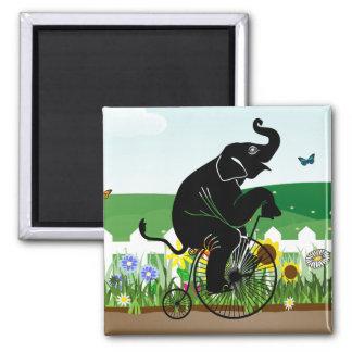 Elephant Riding a Bike Magnet