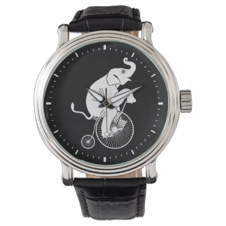 Elephant Riding a Bike Watch