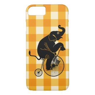 Elephant Riding a Penny Farthing Bike iPhone 8/7 Case