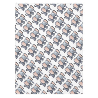 Elephant Safari Animals Cartoon Character Tablecloth