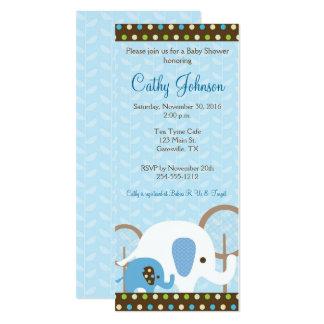 Elephant Safari Baby Shower Invitations - blue