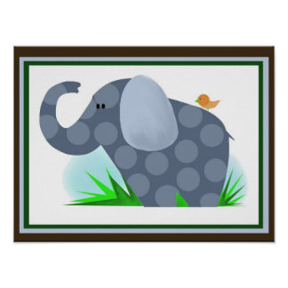 Elephant safari Nursery wall decor Poster