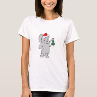 Elephant (Santa Hat) T-Shirt