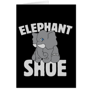 elephant shoe vday card