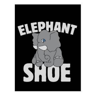 elephant shoe vday postcard
