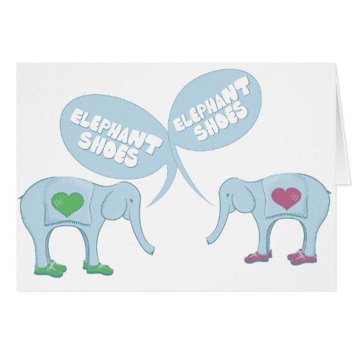 Elephant Shoes Cards