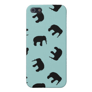Elephant Silhouette Pattern - custom background iPhone 5/5S Cover