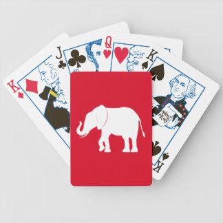Elephant Silhouette Political Edition Poker Deck