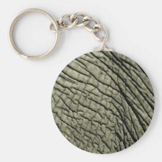 Elephant Skin Basic Round Button Key Ring
