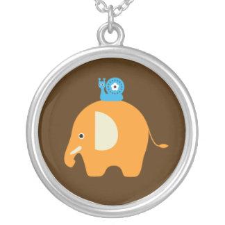Elephant Snail Cartoon Kids Pendant Necklace