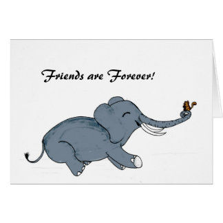 Elephant & Squirrel Friends Forever Card
