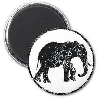 Elephant Stamp 6 Cm Round Magnet