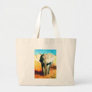 Elephant Standing Guard Jumbo Tote Bag