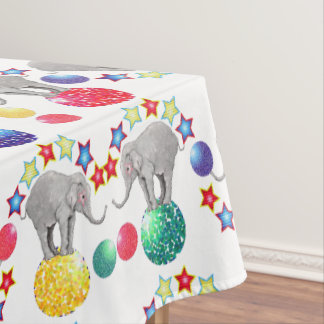 Elephant Stars Circus Pattern Tablecloth