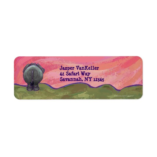 Elephant Stationery Return Address Label