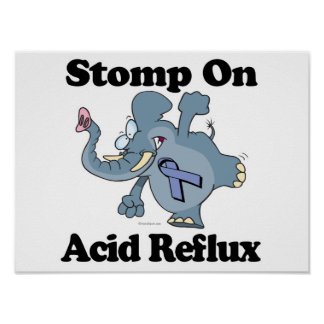Elephant Stomp On Acid Reflux Posters
