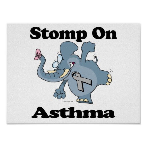 Elephant Stomp On Asthma Poster