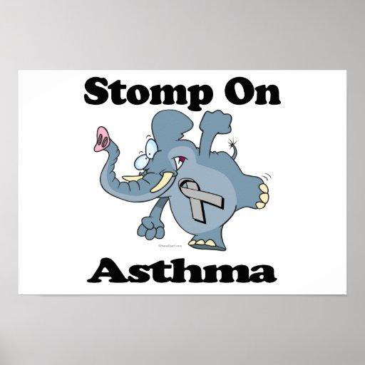 Elephant Stomp On Asthma Print
