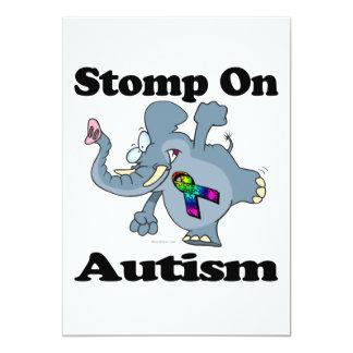 Elephant Stomp On Autism Awareness Design 13 Cm X 18 Cm Invitation Card