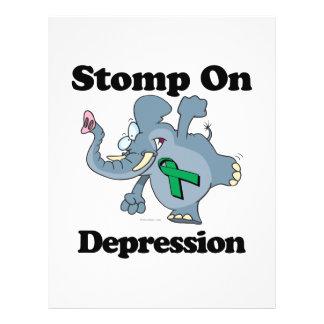 Elephant Stomp On Depression 21.5 Cm X 28 Cm Flyer