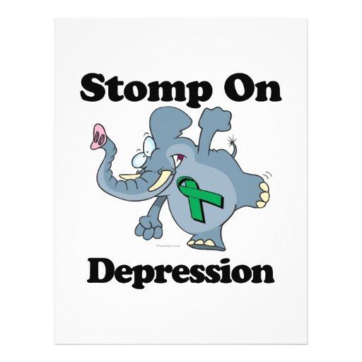 Elephant Stomp On Depression Full Color Flyer