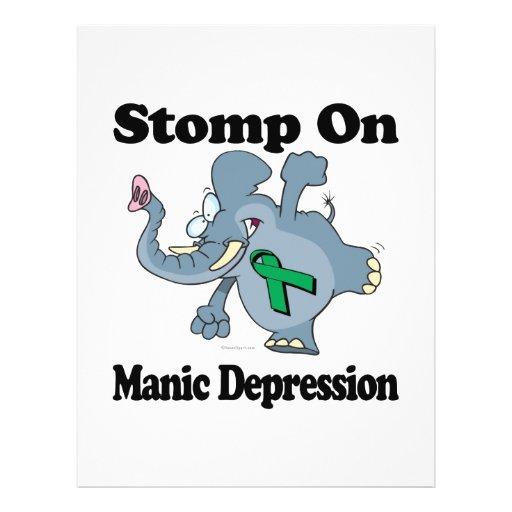 Elephant Stomp On Manic Depression Full Color Flyer
