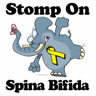 Elephant Stomp On Spina Bifida Photo Sculpture Key Ring