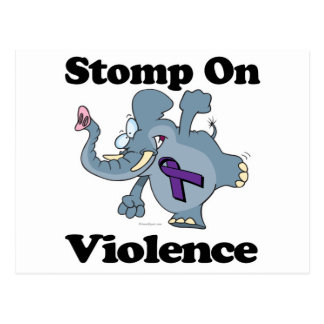 Elephant Stomp On Violence Postcard