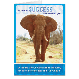 Elephant Success Card