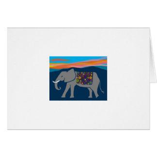 Elephant Sunset Donation Thank You Card