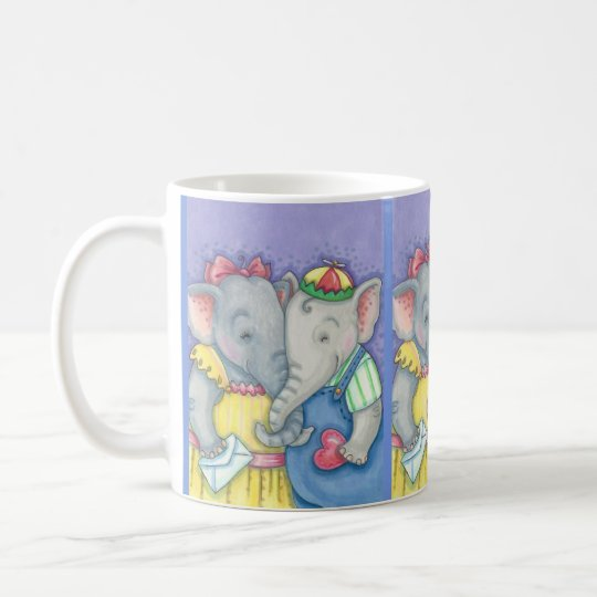 Elephant Sweethearts Valentine Love MUG
