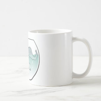 Elephant Swimming around in Goldfish Bowl Coffee Mug