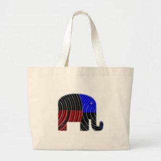 Elephant Task - Politics of Donkeys 2012 Canvas Bag