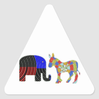 Elephant Task - Politics of Donkeys 2012 Triangle Sticker