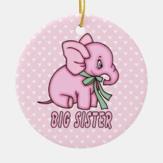 Elephant Toy Big Sister Round Ceramic Decoration