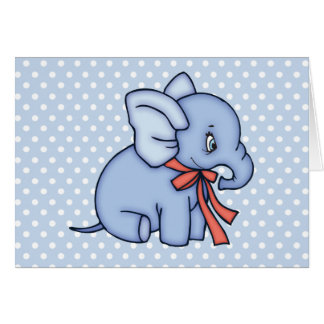 Elephant Toy Blue Stationery Note Card