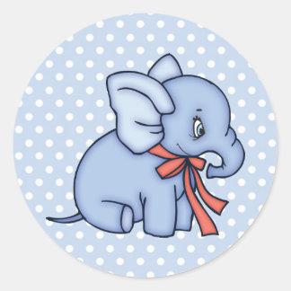 Elephant Toy Blue Stickers