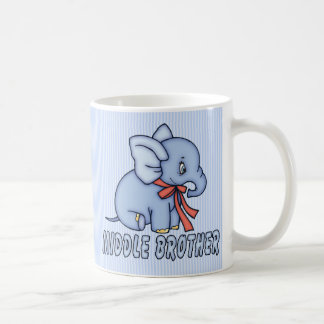 Elephant Toy Middle Brother Coffee Mugs