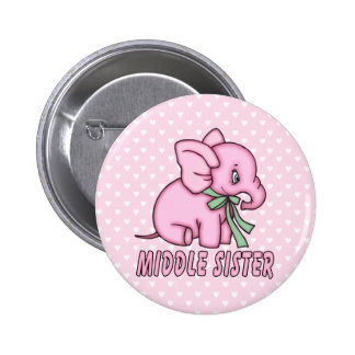 Elephant Toy Middle Sister 6 Cm Round Badge