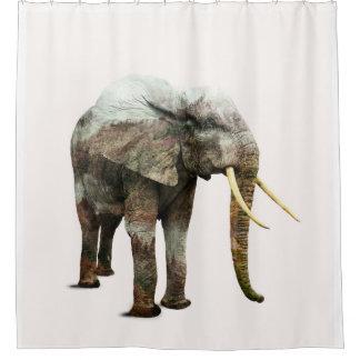Elephant Transformation Shower Curtain