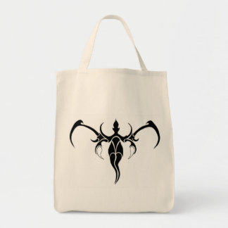 Elephant Tribal Tattoo - black and white Tote Bag