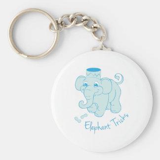 Elephant Tricks Key Chain