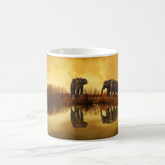 Elephant Trio Wildlife Coffee Mug